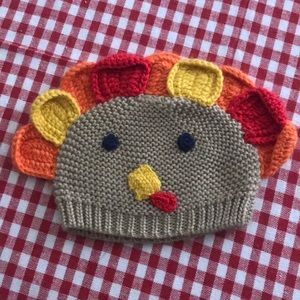 Turkey thanksgiving knit toboggan